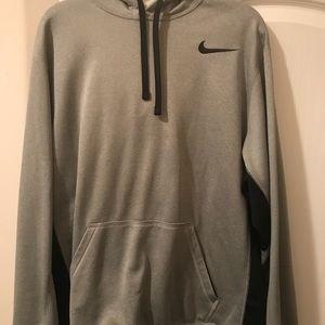 Grey Nike hoodie size L